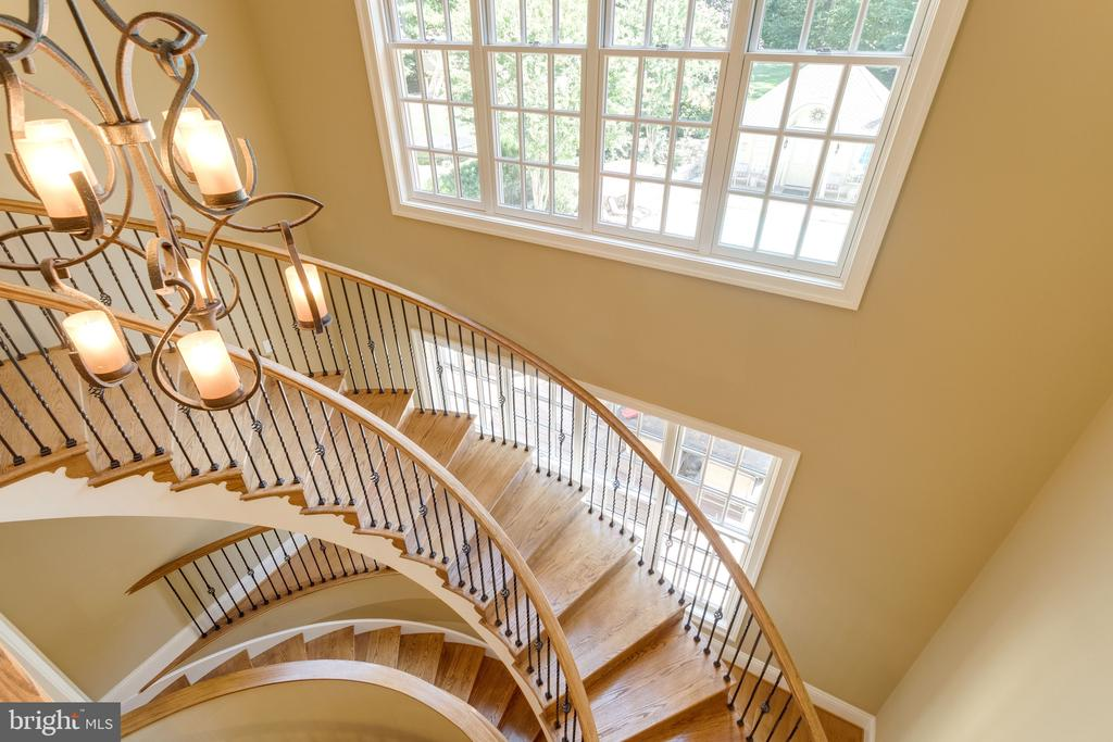 Grand Curve Staircase ascends to Upper Level - 2479 OAKTON HILLS DR, OAKTON