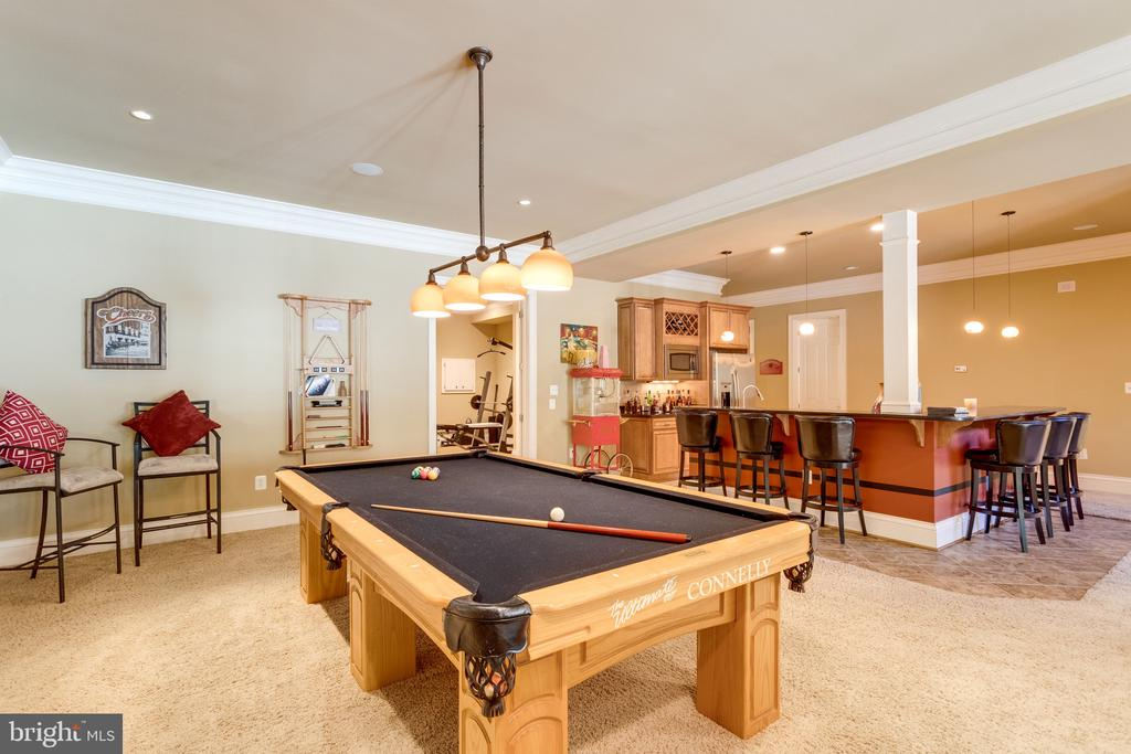 Billiards Area with View to Wet Bar - 2479 OAKTON HILLS DR, OAKTON