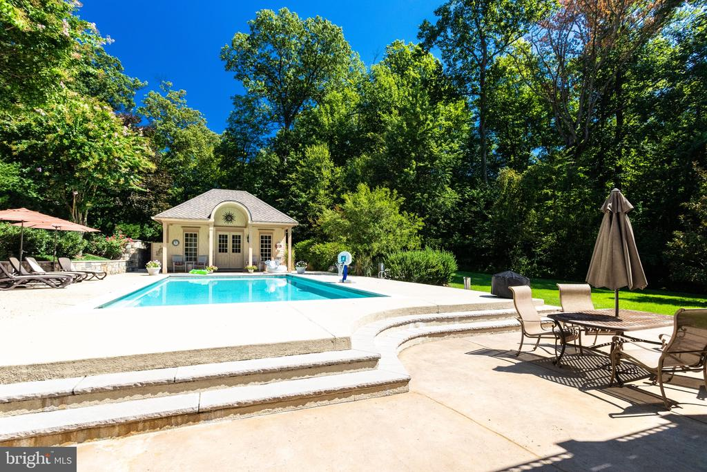 Pool & Patio off Lowel Level Family Room - 2479 OAKTON HILLS DR, OAKTON