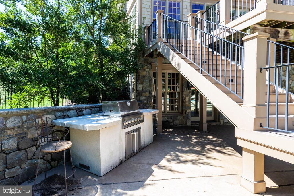 Outdoor Kitchen w Grill - 2479 OAKTON HILLS DR, OAKTON
