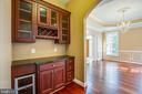 amazing wine cooler in butlers pantry - 13610 KALMBACKS MILL DR, FREDERICKSBURG