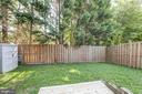 Backyard w/ New Fence & Wood Patio - 15083 JARRELL PL, WOODBRIDGE