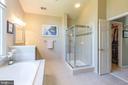 Master Bathroom w/ sep tub & shower; sep vanities - 43046 WATERS OVERLOOK CT, LEESBURG