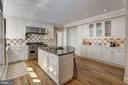 Eat-In Kitchen with Island - 6405 SHADOW RD, CHEVY CHASE