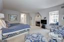 Master Bedroom Suite with Fireplace - 6405 SHADOW RD, CHEVY CHASE