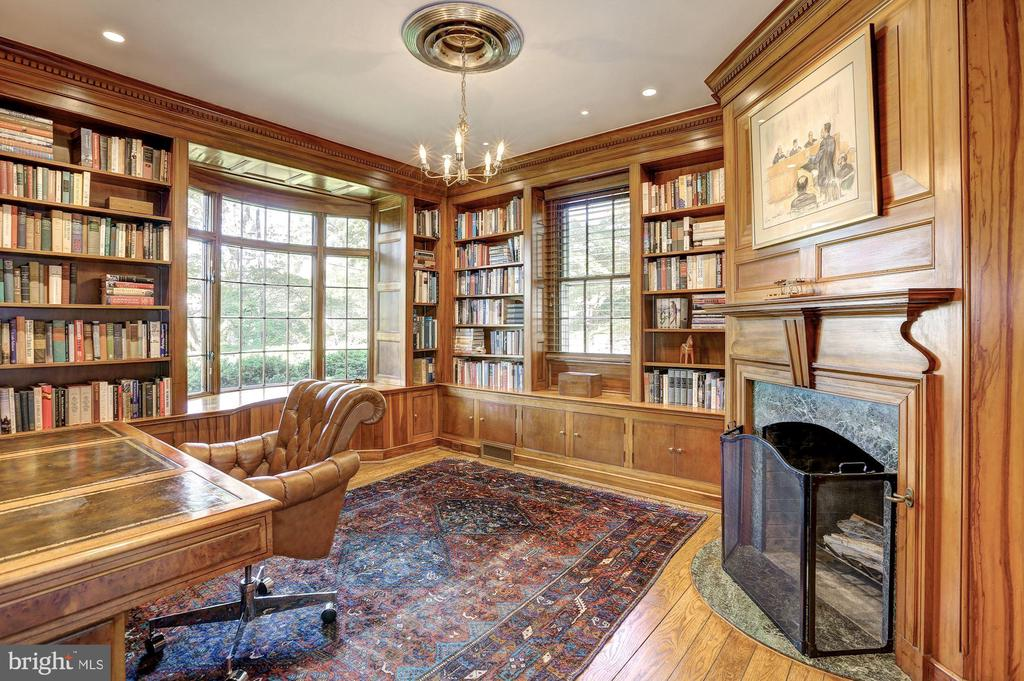 Office with Mahogany Wood Paneling - 6405 SHADOW RD, CHEVY CHASE