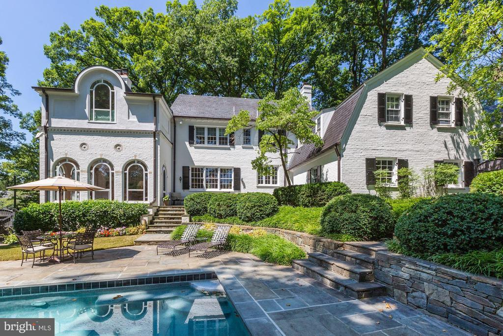 Rear Exterior - 6405 SHADOW RD, CHEVY CHASE