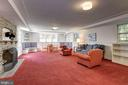 Lower Level Recreation Room - 6405 SHADOW RD, CHEVY CHASE