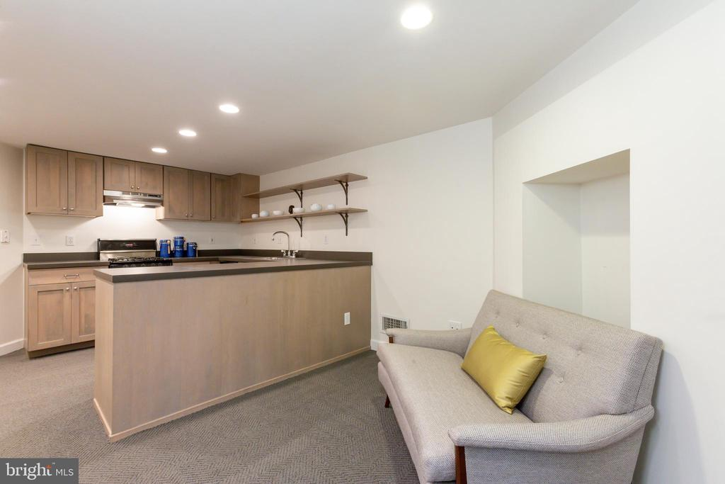 Lower level secondary kitchen and living area - 2015 HILLYER PL NW, WASHINGTON