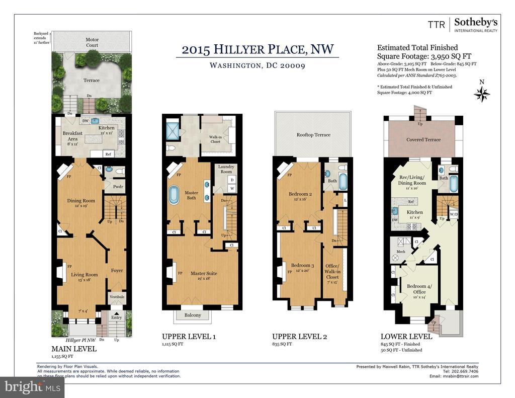 Floor plan - 2015 HILLYER PL NW, WASHINGTON