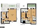 Floor plan rendering - 2001 19TH ST NW #4, WASHINGTON