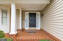 Covered entry/porch - 20456 TAPPAHANNOCK PL, STERLING