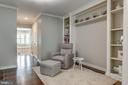 Master sitting room with built ins - 20456 TAPPAHANNOCK PL, STERLING