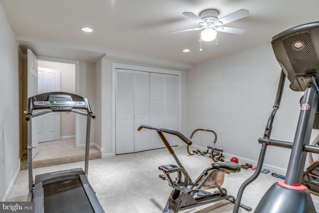 Lower level exercise room/Bedroom - 20456 TAPPAHANNOCK PL, STERLING