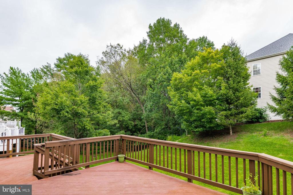 Deck overlooking common area - 20456 TAPPAHANNOCK PL, STERLING