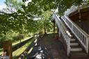private backyard - 43228 CAVELL CT, LEESBURG