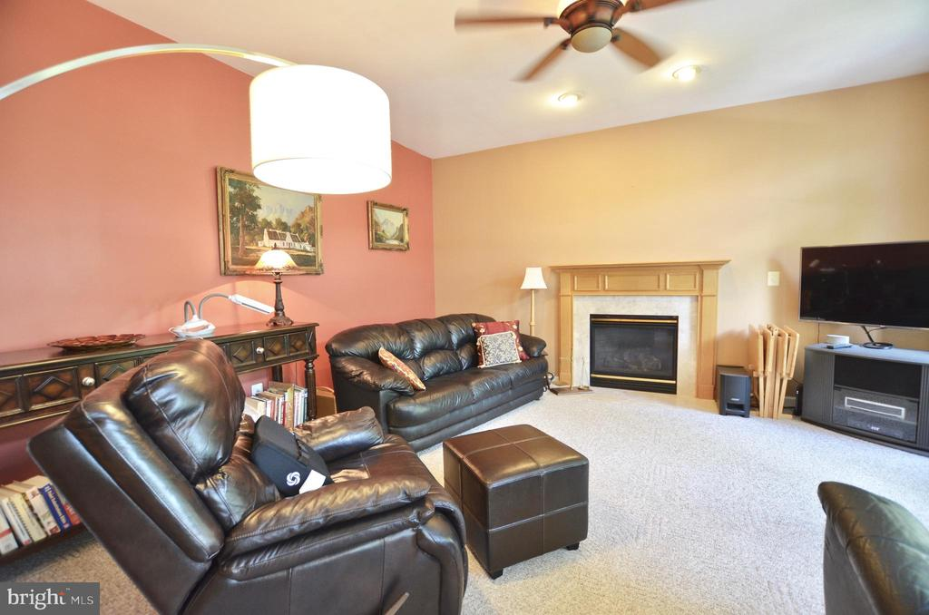 Family room with fireplace - 43228 CAVELL CT, LEESBURG