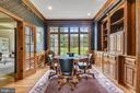 Custom millwork with computer area in libray! - 3096 WINDSONG DR, OAKTON
