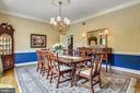 Gracious formal dining room! Great for parties! - 3096 WINDSONG DR, OAKTON
