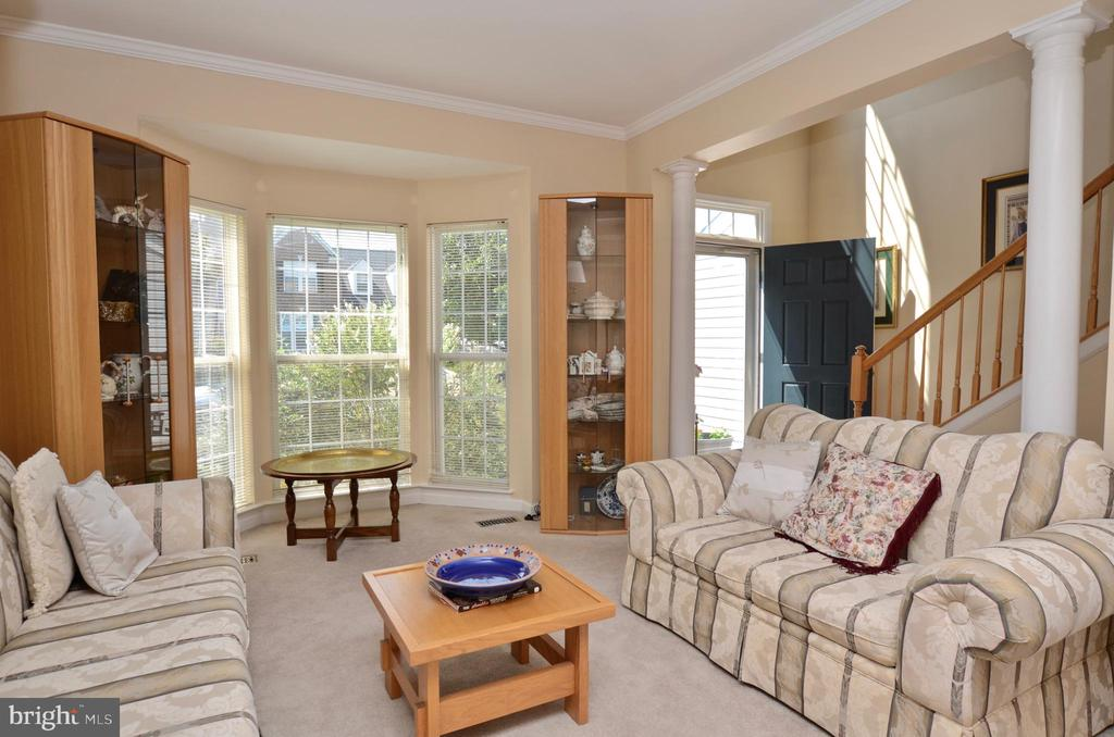 Living room  with bay window - 43228 CAVELL CT, LEESBURG