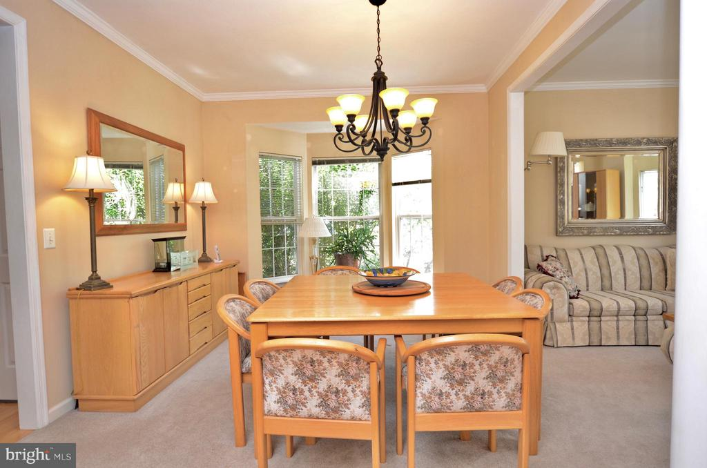 dining room with large bay window - 43228 CAVELL CT, LEESBURG