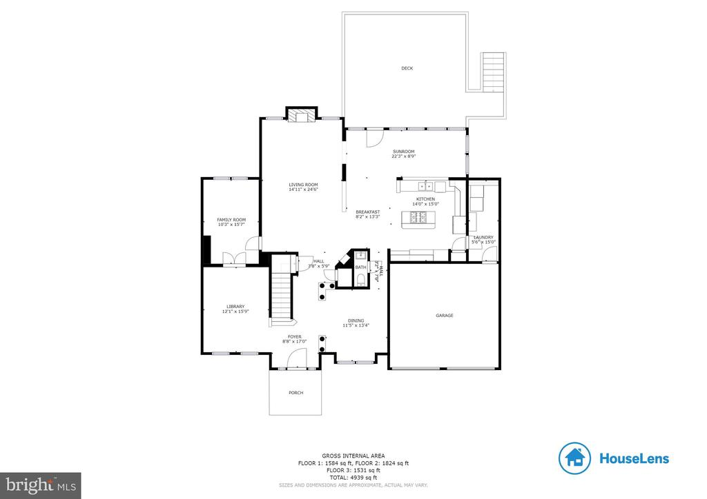 Main Level Floor Plan - 14111 PUNCH ST, SILVER SPRING
