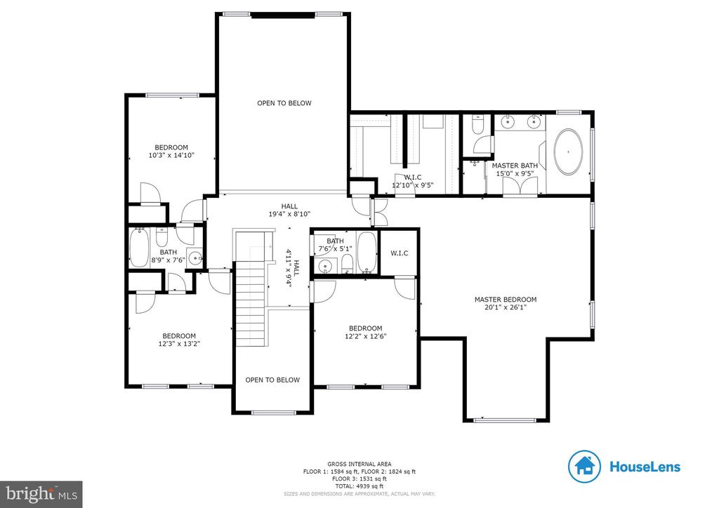 Upper Level Floor Plan - 14111 PUNCH ST, SILVER SPRING