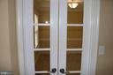 Glass doors to office/study - 22 NORFOLK ST, FREDERICKSBURG