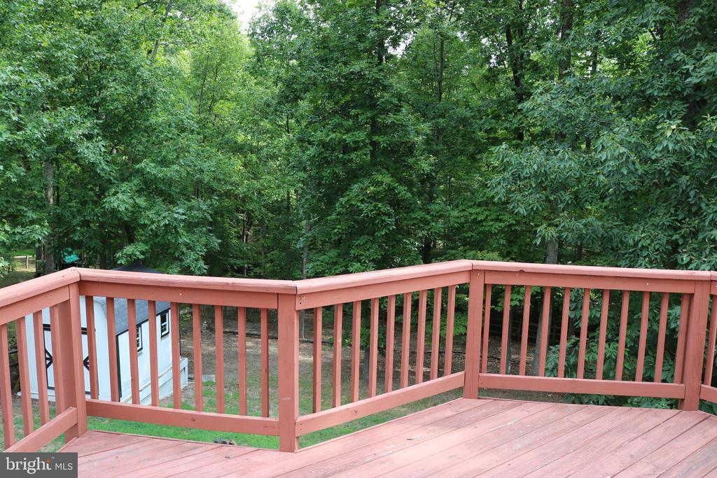 Deck overlooking wooded view - 22 NORFOLK ST, FREDERICKSBURG