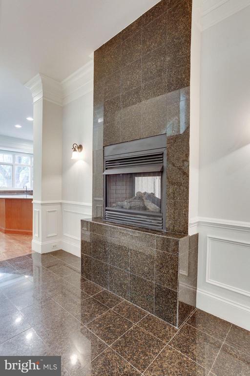 Foyer Dual Fireplace - 1843 HUNTER MILL RD, VIENNA