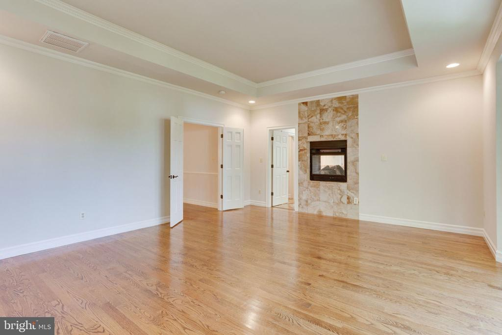 UL Master with dual fireplace into master bath! - 1843 HUNTER MILL RD, VIENNA