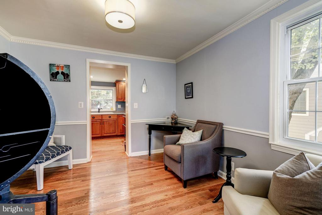 View from LR to DR/Sitting Room - 716 UPLAND PL, ALEXANDRIA