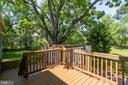 Deck off kitchen - perfect for grilling! - 1843 HUNTER MILL RD, VIENNA