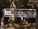 Entry sign to parking lot for home - 3827 EL CAMINO PL #13, ALEXANDRIA