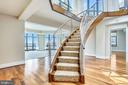 Floating staircase - 4301 MILITARY RD NW #PH2, WASHINGTON