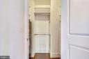 Walk in closet - 4301 MILITARY RD NW #PH2, WASHINGTON