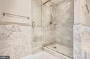 Master bath shower - 4301 MILITARY RD NW #PH2, WASHINGTON