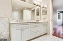 Master bathroom double vanities - 4301 MILITARY RD NW #PH2, WASHINGTON