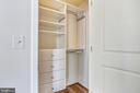 Closet with built-ins - 4301 MILITARY RD NW #PH2, WASHINGTON