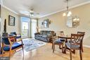 Open living room/dining room. - 1391 PENNSYLVANIA AVE SE #402, WASHINGTON