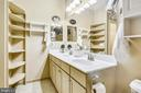 Twin sink vanity and lots of storage. - 1391 PENNSYLVANIA AVE SE #402, WASHINGTON