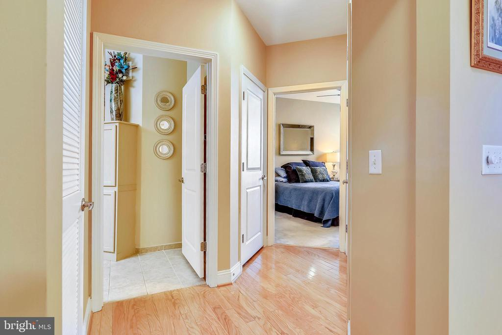 Hall to the bedroom with large closet. - 1391 PENNSYLVANIA AVE SE #402, WASHINGTON