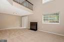 Basement Rec Room with Fireplace & Walkout - 18413 HALLMARK CT, GAITHERSBURG