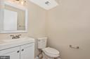 Updated Basement Powder Room - 18413 HALLMARK CT, GAITHERSBURG