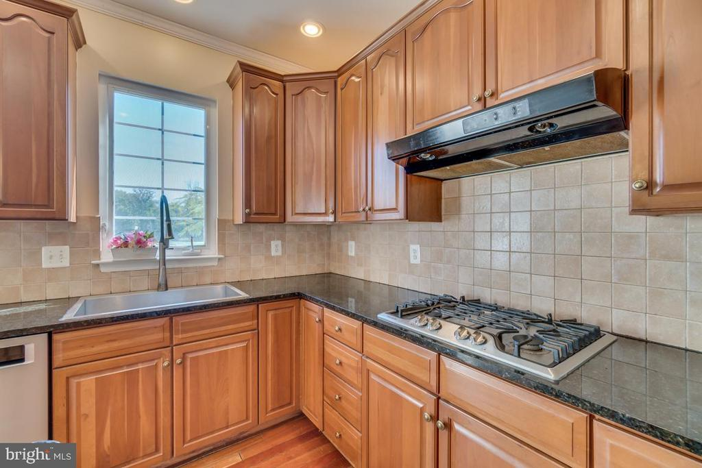 Gas range and large stainless steel sink - 20210 HIDDEN CREEK CT, ASHBURN