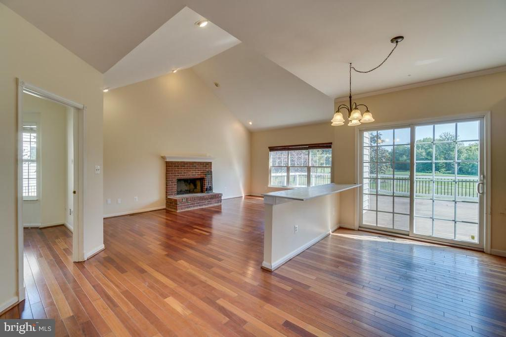 Family Room with wood burning fireplace - 20210 HIDDEN CREEK CT, ASHBURN