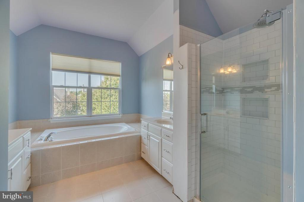 Master bath with tub and walk-in shower - 20210 HIDDEN CREEK CT, ASHBURN