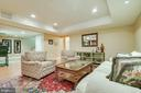 Huge sitting area in the basement! - 1011 N WASHINGTON ST, ALEXANDRIA