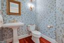 Light and bright powder room. - 1011 N WASHINGTON ST, ALEXANDRIA