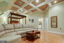 Master bedroom with coffered ceiling! - 1011 N WASHINGTON ST, ALEXANDRIA